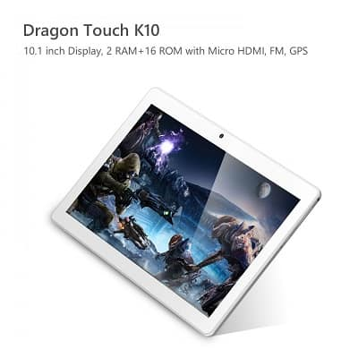 Dragon Touch K10 Display